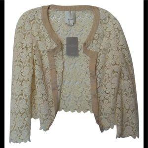 NWT Elevenses Anthropologie Embroidered Jacket Med